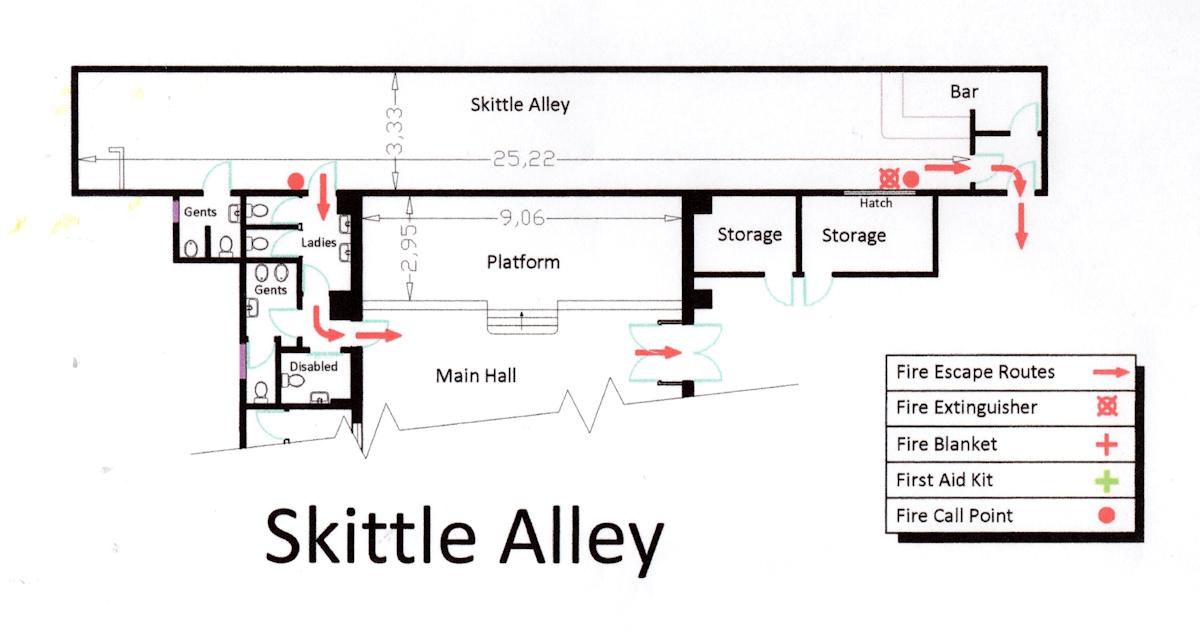 skittle alley